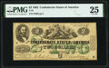 Confederate Notes:1862 Issues, T43 $2 1862 PF-1 Cr. 338. PMG Very Fine 25.. ...