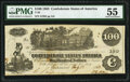 Confederate Notes:1862 Issues, T39 $100 1862 PF-13 Cr. 294. PMG About Uncirculated 55.. ...