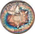 Three Cent Silver, 1867 3CS MS68 PCGS....
