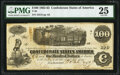 Confederate Notes:1862 Issues, T40 $100 1862 PF-1 Cr. 298. PMG Very Fine 25.. ...