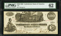 Confederate Notes:1862 Issues, T39 $100 1862 PF-5 Cr. 290 PMG Uncirculated 62. . ...