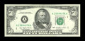 Error Notes:Ink Smears, Fr. 2119-A $50 1977 Federal Reserve Note. Choice AboutUncirculated.. ...