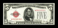 Small Size:Legal Tender Notes, Fr. 1525* $5 1928 Legal Tender Note. Extremely Fine.. ...
