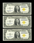 Small Size:World War II Emergency Notes, Fr. 2306 $1 1935A North Africa Silver Certificates. Three Consecutive Examples. Crisp Uncirculated.. ... (Total: 3 notes)