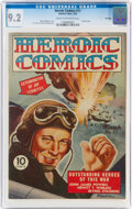 Golden Age (1938-1955):War, Heroic Comics #17 File Copy (Eastern Color, 1943) CGC NM- 9.2 Cream to off-white pages....