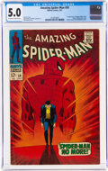 Silver Age (1956-1969):Superhero, The Amazing Spider-Man #50 (Marvel, 1967) CGC VG/FN 5.0 Off-white to white pages....