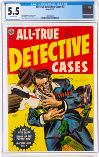 All-True Detective Cases #3 (Avon, 1954) CGC FN- 5.5 Off-white pages