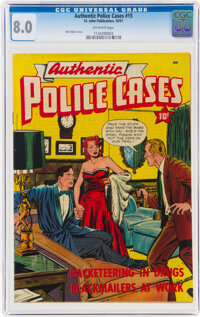 Authentic Police Cases #15 (St. John, 1951) CGC VF 8.0 Off-white pages