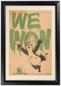 """Football Collectibles:Publications, Circa 1965 Hamm's Green Bay Packers """"We Won"""" Newspaper Supplement Ad..."""