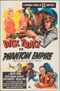 """Movie Posters:Serial, Dick Tracy vs. the Phantom Empire (Republic, R-1952). Folded, Very Fine+. One Sheet (27"""" X 41"""") Formerly Entitled: Dick Tr..."""
