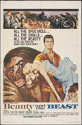 """Movie Posters:Fantasy, Beauty and the Beast (United Artists, 1962). Folded, Fine. One Sheet (27"""" X 41""""). Fantasy.. ..."""