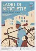 "Movie Posters:Foreign, The Bicycle Thieves (Cineteca Bologna, R-2018). Folded, Very Fine+. Italian 2 - Fogli (39.5"" X 55"") Iker Ayestaran Artwork. ..."