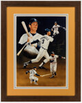 Autographs:Others, Alan Trammell Signed Lithograph....