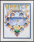 Autographs:Others, Joe DiMaggio Signed Yankees Legends Lithograph. ...