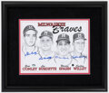 Autographs:Others, Circa 1958 Milwaukee Braves Signed Pitchers Print. ...