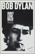 "Movie Posters:Rock and Roll, Don't Look Back (Leacock-Pennebaker, R-1983). Rolled, Very Fine+. Autographed One Sheet (26.75"" X 40.75""). Rock and Roll.. ..."