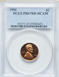 Proof Lincoln Cents, 1954 1C PR67 Red Deep Cameo PCGS. PCGS Population: (15/7). NGC Census: (17/7).. From The Maltese Collection....