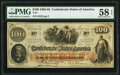 Confederate Notes:1862 Issues, T41 $100 1862 PF-6 Cr. 319 PMG Choice About Unc 58 EPQ.. ...