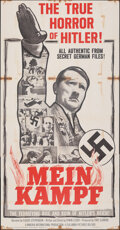 """Movie Posters:Documentary, Mein Kampf & Other Lot (Columbia, 1960). Folded, Overall: Fine+. Three Sheets (2) (41"""" X 79"""" & 40.75"""" X 79""""). Documentary.. ... (Total: 2 Items)"""