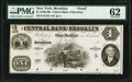 Brooklyn, NY- Central Bank of Brooklyn $1 18__ as G1a Proof PMG Uncirculated 62, POCs