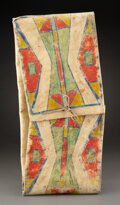 American Indian Art:Pipes, Tools, and Weapons, A Plains or Plateau Painted Parfleche Envelope