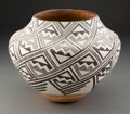 American Indian Art:Pottery, An Acoma Black-On-White Jar...
