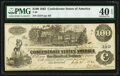 Confederate Notes:1862 Issues, T39 $100 1862 PF-13 Cr. 294 PMG Extremely Fine 40 EPQ.. ...