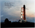 Explorers:Space Exploration, Fred Haise Signed Large Apollo 13 Launchpad Color Photo.
