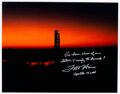 Explorers:Space Exploration, Fred Haise Signed Large Apollo 13 Pre-Launch Color Photo w...