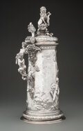 Silver & Vertu, An Austro-Hungarian Silver Figural Stein with Mythological Scene, 1872-1922. Marks: (dianakopf), (makers mark). 19 x 9 x 7-1...