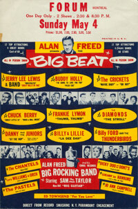 "Alan Freed Presents: The Big Beat (N.Y. Paramount Engagements, 1958). Very Fine. Handbill (6"" X 9"")"