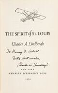 Explorers:Space Exploration, Charles Lindbergh Signed The Spirit of St. L...