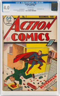 Action Comics #7 (DC, 1938) CGC VG 4.0 Off-white pages