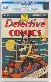 Detective Comics #31 (DC, 1939) CGC VG/FN 5.0 Cream to off-white pages