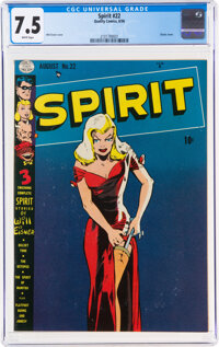 The Spirit #22 (Quality, 1950) CGC VF- 7.5 White pages