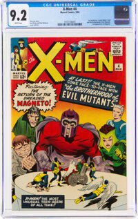 X-Men #4 (Marvel, 1964) CGC NM- 9.2 White pages