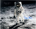 Explorers:Space Exploration, Buzz Aldrin and Michael Collins Signed Large Apollo 11 Lun...