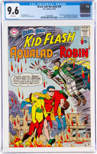 The Brave and the Bold #54 Kid Flash, Aqualad, and Robin (DC, 1964) CGC NM+ 9.6 White pages