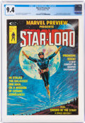 Magazines:Science-Fiction, Marvel Preview #4 Star-Lord (Marvel, 1976) CGC NM 9.4 Off-white pages....