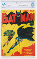 Golden Age (1938-1955):Superhero, Batman #1 (DC, 1940) CBCS GD+ 2.5 White pages....