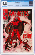 Silver Age (1956-1969):Superhero, The Avengers #57 (Marvel, 1968) CGC NM/MT 9.8 White pages....
