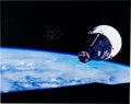 Explorers:Space Exploration, Gemini 7: James Lovell Signed Large Color Photo with Novas...