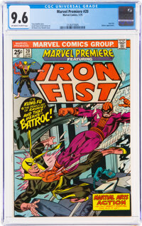 Marvel Premiere #20 Iron Fist (Marvel, 1975) CGC NM+ 9.6 Off-white to white pages
