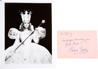 Wizard of Oz: Signed Photo of Margaret Hamilton as the Wicked Witch of the West and Signature of Billie