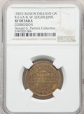 Early American Tokens, (1825-36) New Orleans, Louisiana, W. Edgar, Junr., R. E-LA-8, R.7--Corrosion--NGC Details. XF. Brass, plain edge.. Ex: Don...