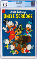 Golden Age (1938-1955):Cartoon Character, Four Color #495 Uncle Scrooge (Dell, 1953) CGC VF/NM 9.0 Off-white to white pages....