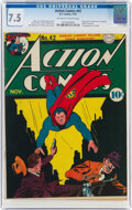 Golden Age (1938-1955):Superhero, Action Comics #42 (DC, 1941) CGC VF- 7.5 Off-white to white pages....
