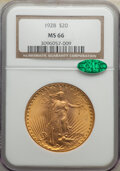 Saint-Gaudens Double Eagles: , 1928 $20 MS66 NGC. CAC. NGC Census: (1313/93). PCGS Population: (3244/95). CDN: $2,845 Whsle. Bid for NGC/PCGS MS66. Mintag...