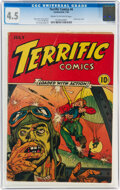 Golden Age (1938-1955):War, Terrific Comics #4 (Continental Magazines, 1944) CGC VG+ 4.5 Cream to off-white pages....