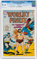 Silver Age (1956-1969):Superhero, World's Finest Comics #102 (DC, 1959) CGC NM 9.4 White pages....